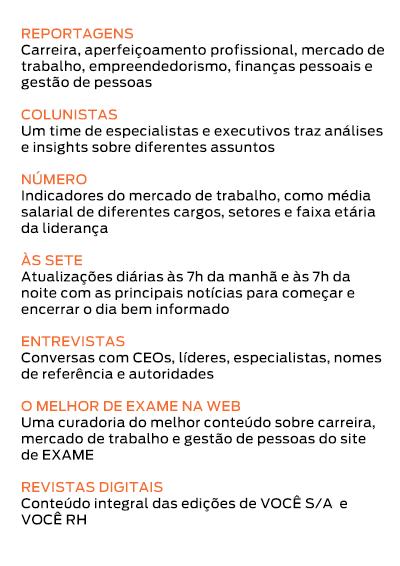 Revista digital - Acesso integral às edições digitais de VOCÊ S/A e VOCÊ RH.